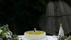 Torta nuziale ad un piano, decorata a cestino