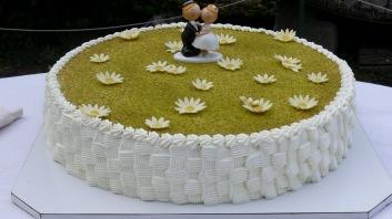 Il dettaglio della torta