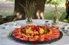 Golosa tagliata di frutta del buffet dei dolci