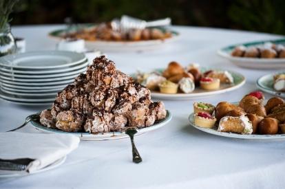 Gran buffet di dolci tipici