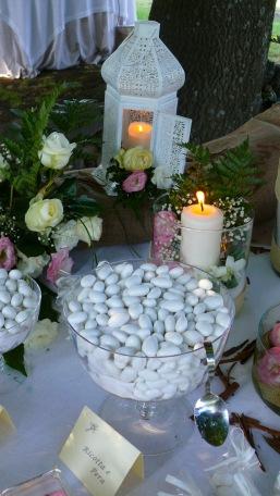 Dettaglio confettata romantica in rosa