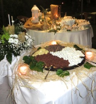 Tavolo dei confetti e del cioccolato