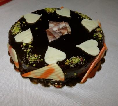 Torta al cioccolato fondente e bianco