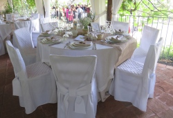 Tavolo bianco ricevimento agriturismo case perrotta etna1